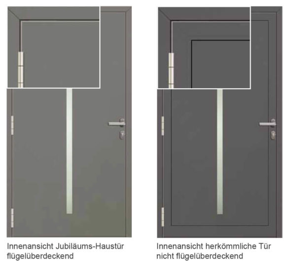 FTT - Jubiläums-Haustüren Flügelüberdeckend
